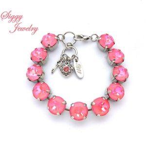 Swarovski Crystal Ultra Pink Coral Bracelet, 11mm